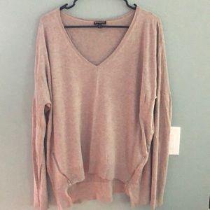 Light brown V neck sweater